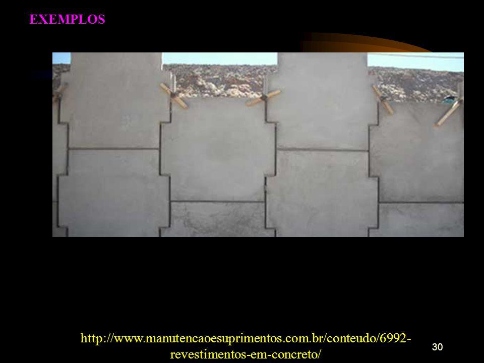 EXEMPLOS http://www.manutencaoesuprimentos.com.br/conteudo/6992-revestimentos-em-concreto/