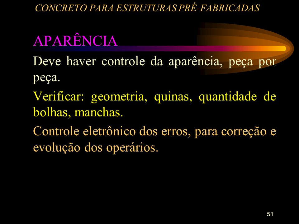 CONCRETO PARA ESTRUTURAS PRÉ-FABRICADAS