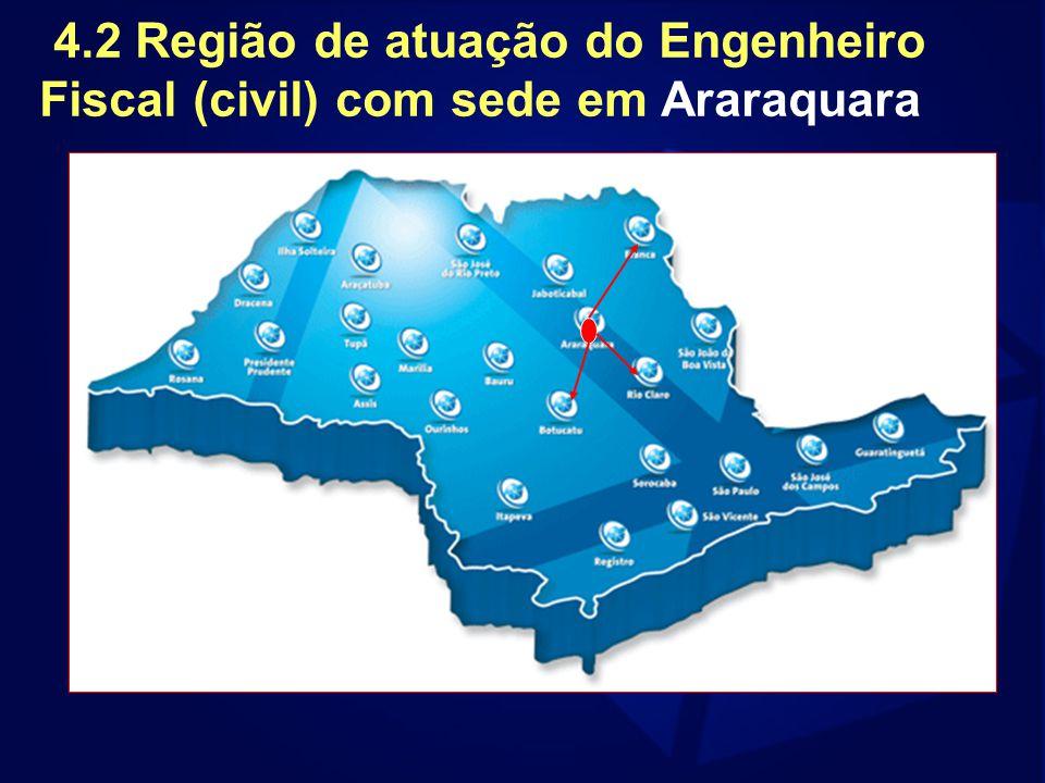 4.2 Região de atuação do Engenheiro Fiscal (civil) com sede em Araraquara