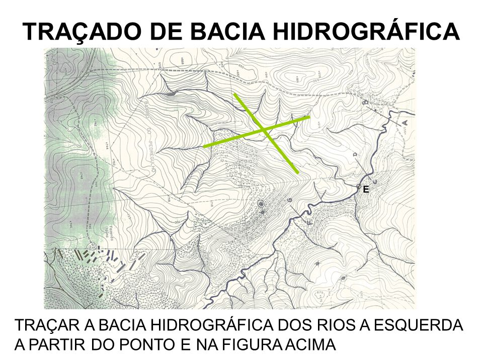 TRAÇADO DE BACIA HIDROGRÁFICA