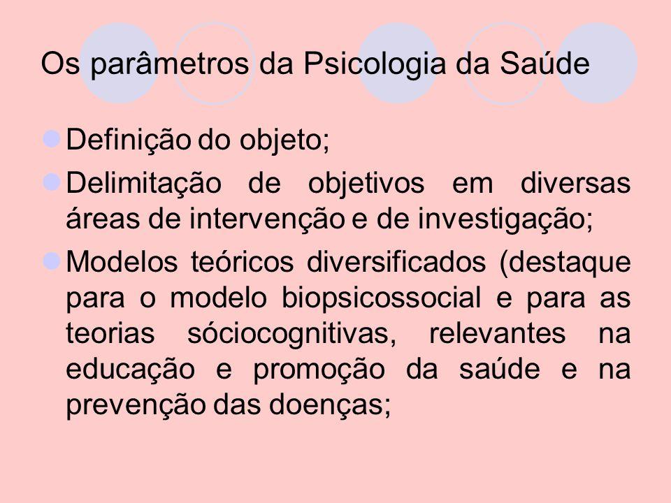 Os parâmetros da Psicologia da Saúde