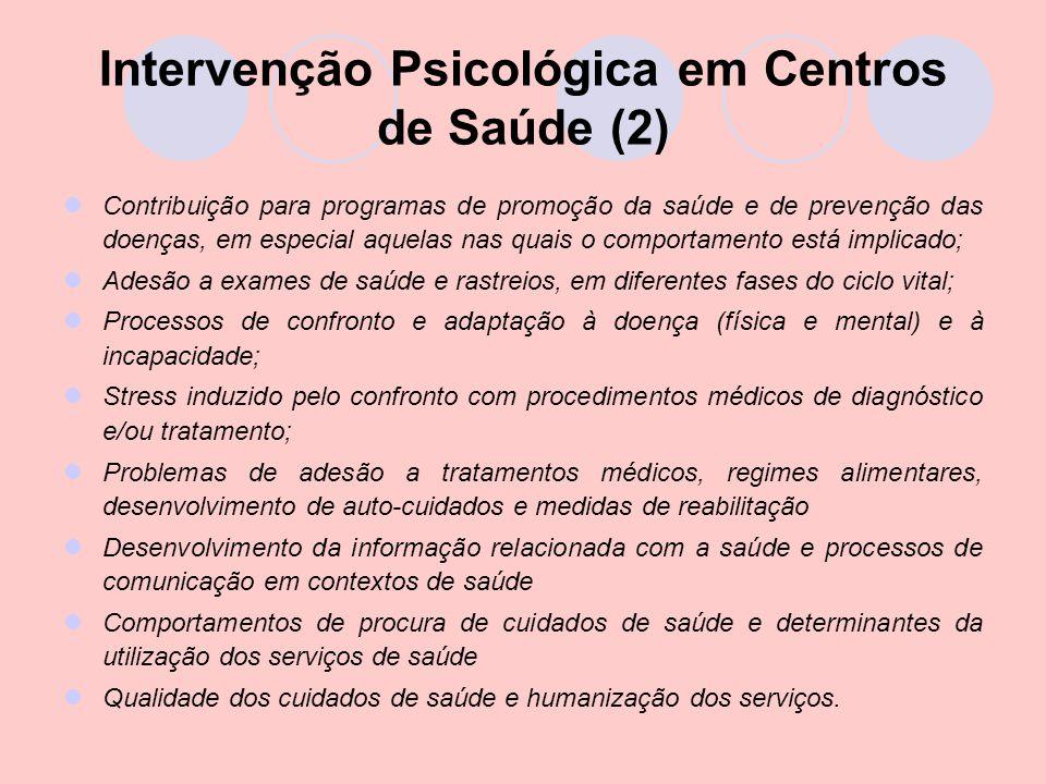 Intervenção Psicológica em Centros de Saúde (2)