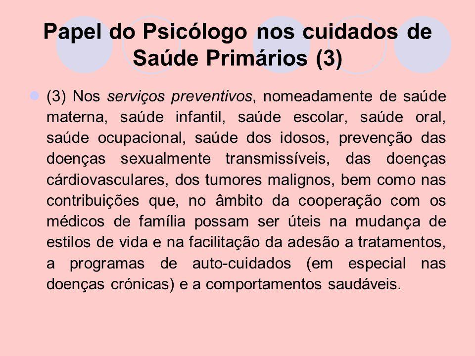 Papel do Psicólogo nos cuidados de Saúde Primários (3)