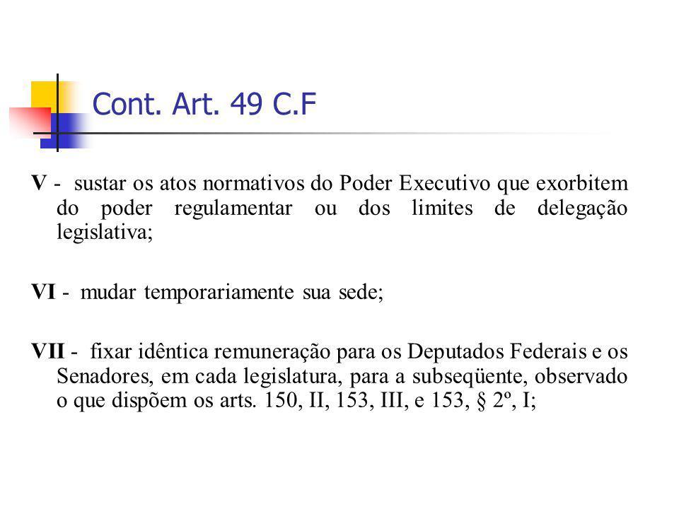 Cont. Art. 49 C.F