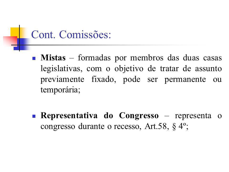 Cont. Comissões: