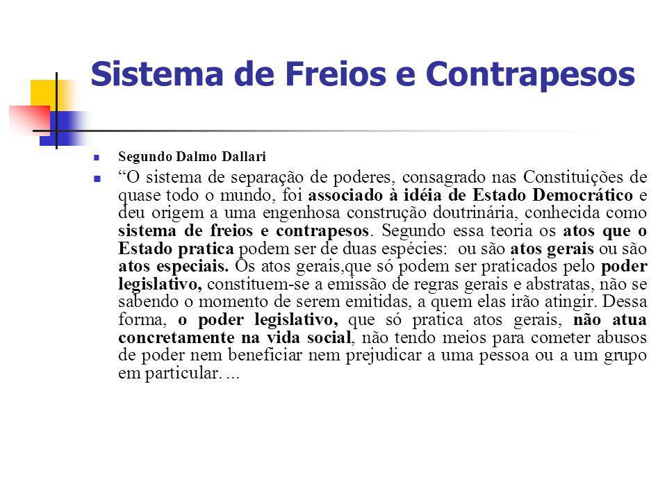 Sistema de Freios e Contrapesos