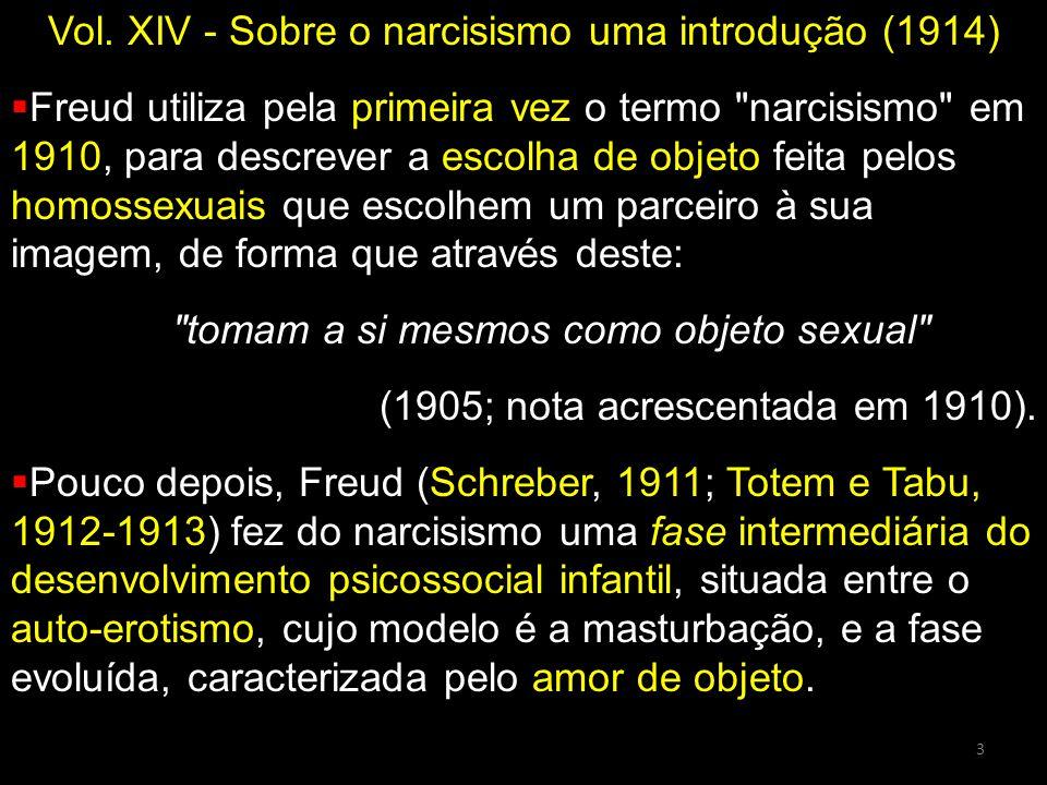 Vol. XIV - Sobre o narcisismo uma introdução (1914)