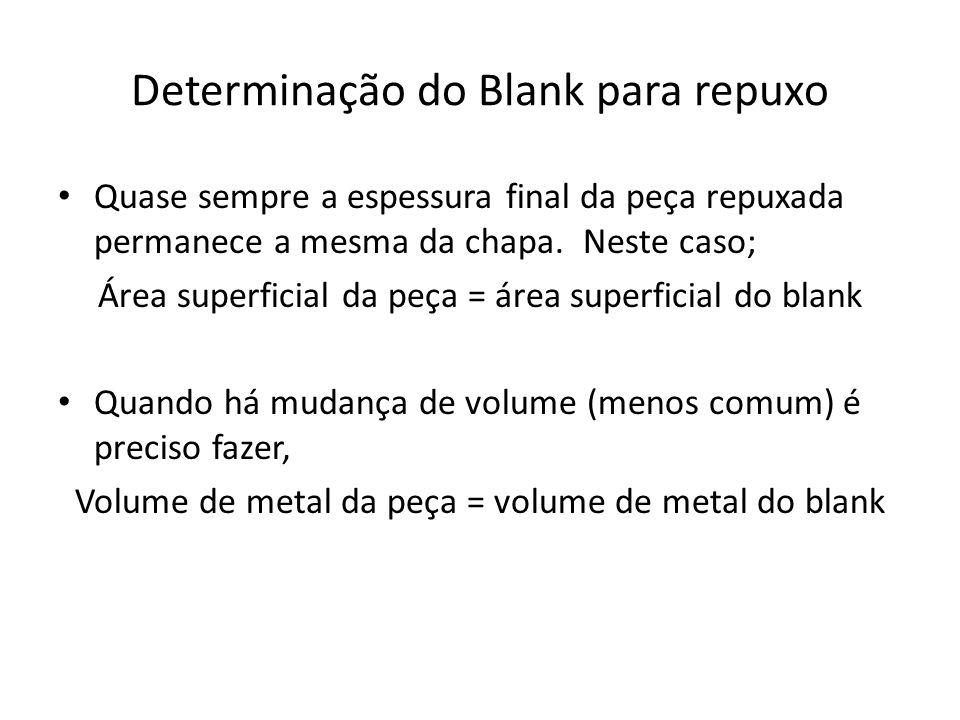 Determinação do Blank para repuxo