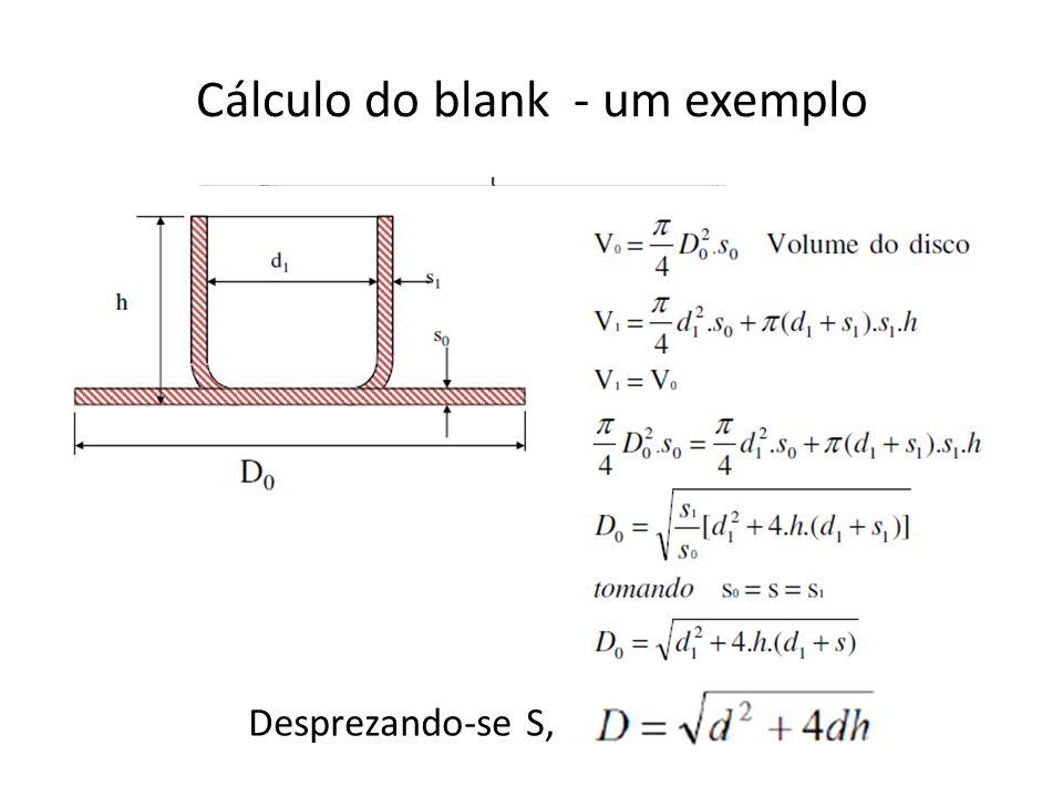 Cálculo do blank - um exemplo