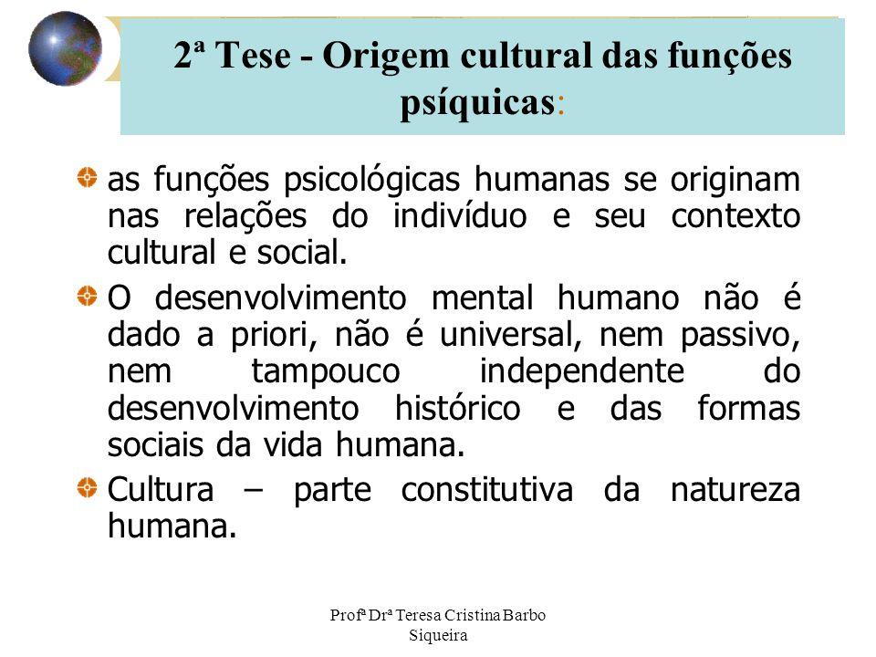 Profª Drª Teresa Cristina Barbo Siqueira