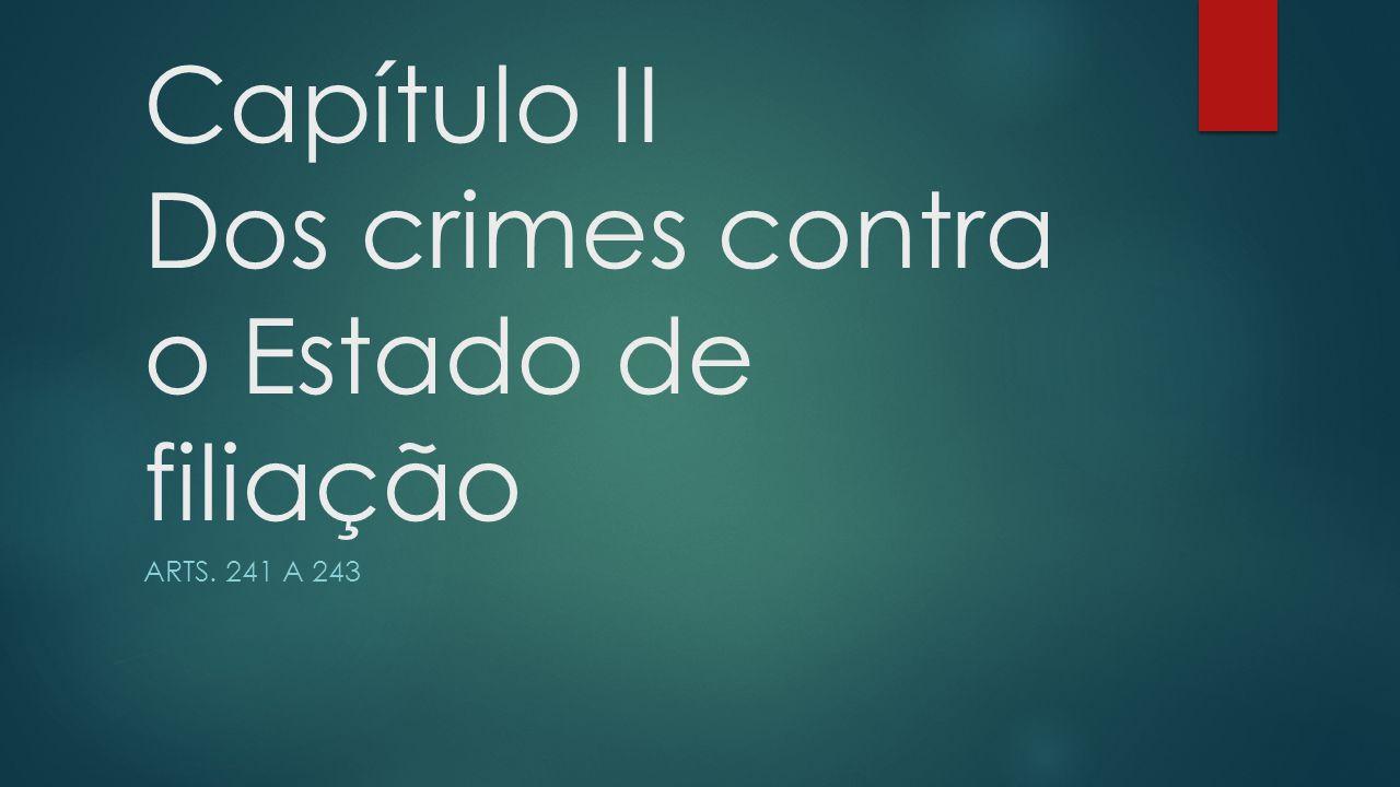 Capítulo II Dos crimes contra o Estado de filiação