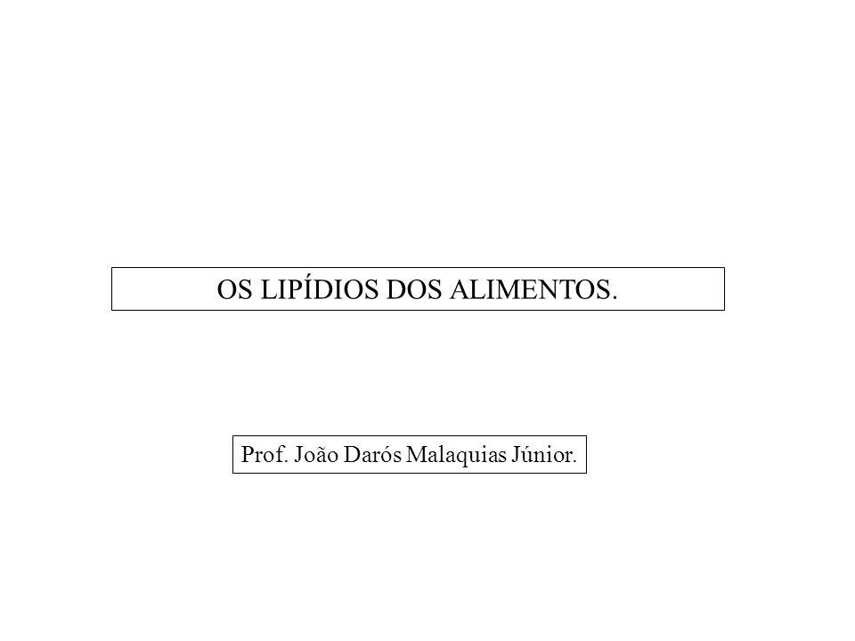 OS LIPÍDIOS DOS ALIMENTOS.