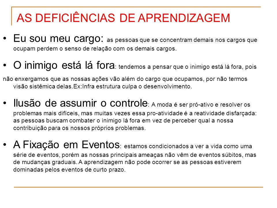 AS DEFICIÊNCIAS DE APRENDIZAGEM