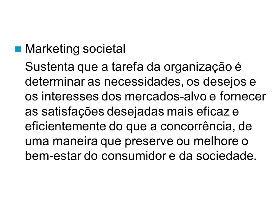 Marketing societal