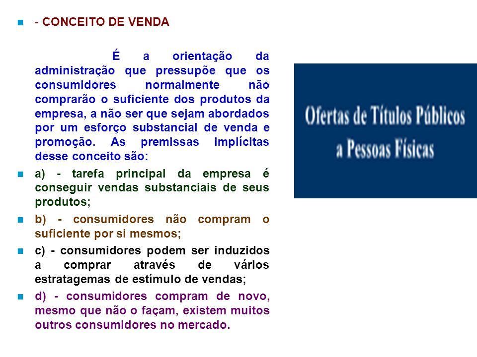 - CONCEITO DE VENDA