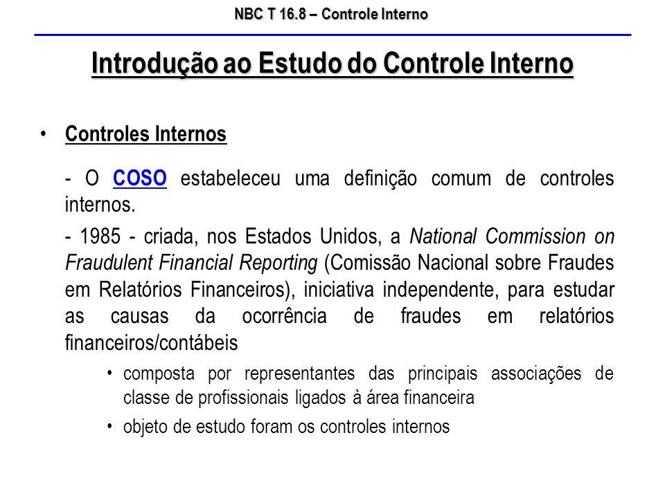 Introdução ao Estudo do Controle Interno