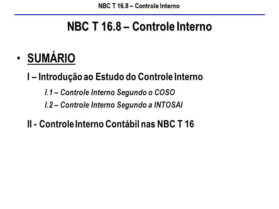 NBC T 16.8 – Controle Interno