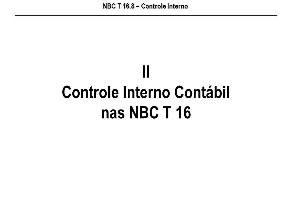 II Controle Interno Contábil nas NBC T 16