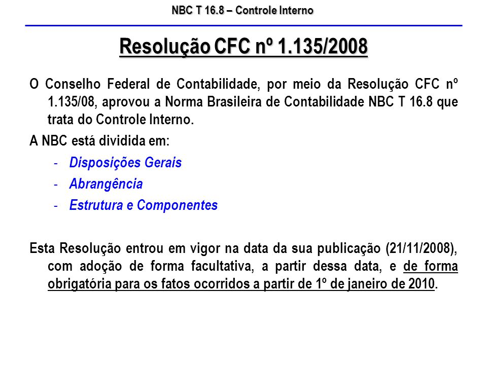 Resolução CFC nº 1.135/2008