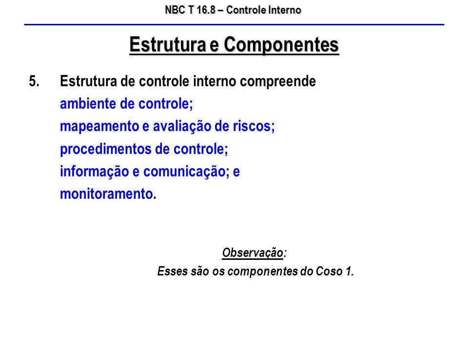 Estrutura e Componentes Esses são os componentes do Coso 1.