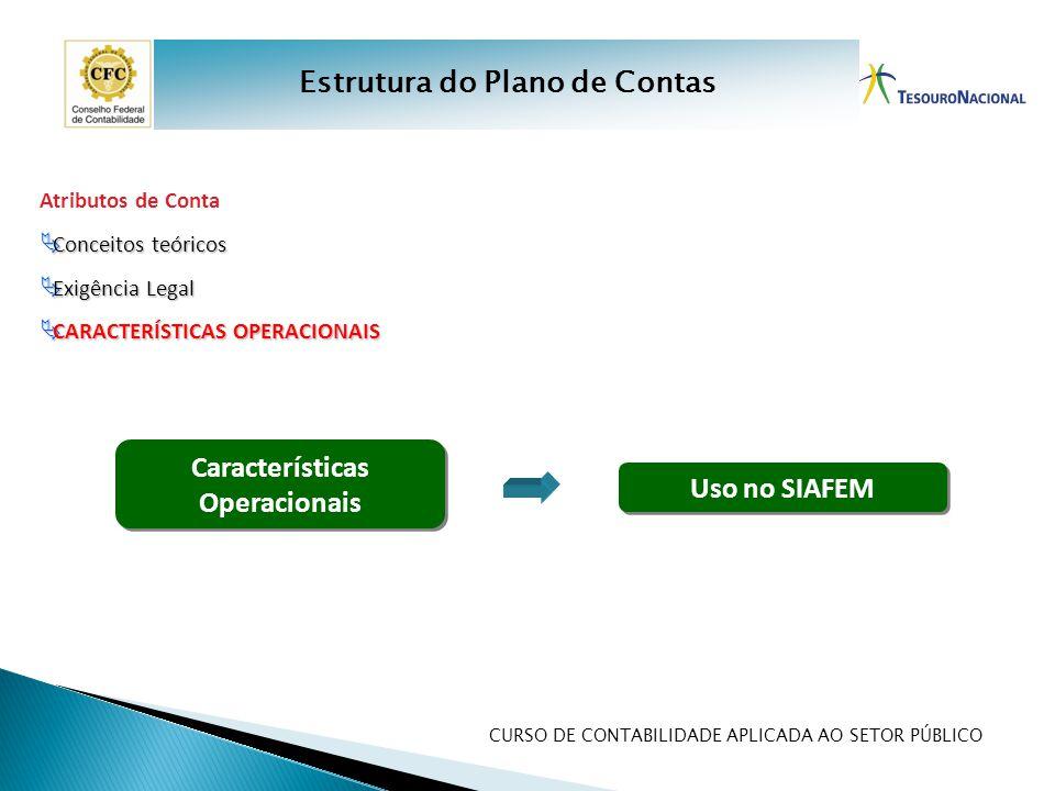 Estrutura do Plano de Contas Características Operacionais