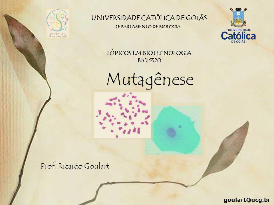UNIVERSIDADE CATÓLICA DE GOIÁS TÓPICOS EM BIOTECNOLOGIA