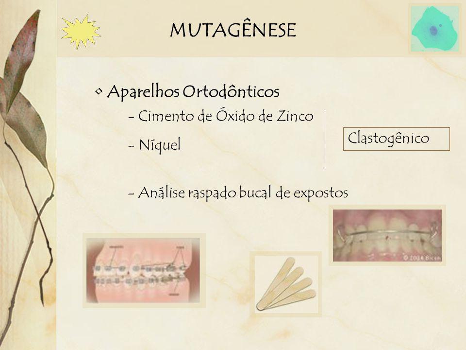 MUTAGÊNESE Aparelhos Ortodônticos - Cimento de Óxido de Zinco