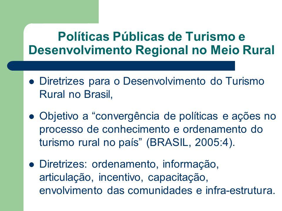 Políticas Públicas de Turismo e Desenvolvimento Regional no Meio Rural