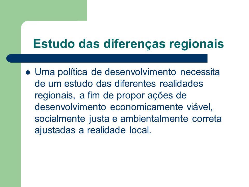 Estudo das diferenças regionais