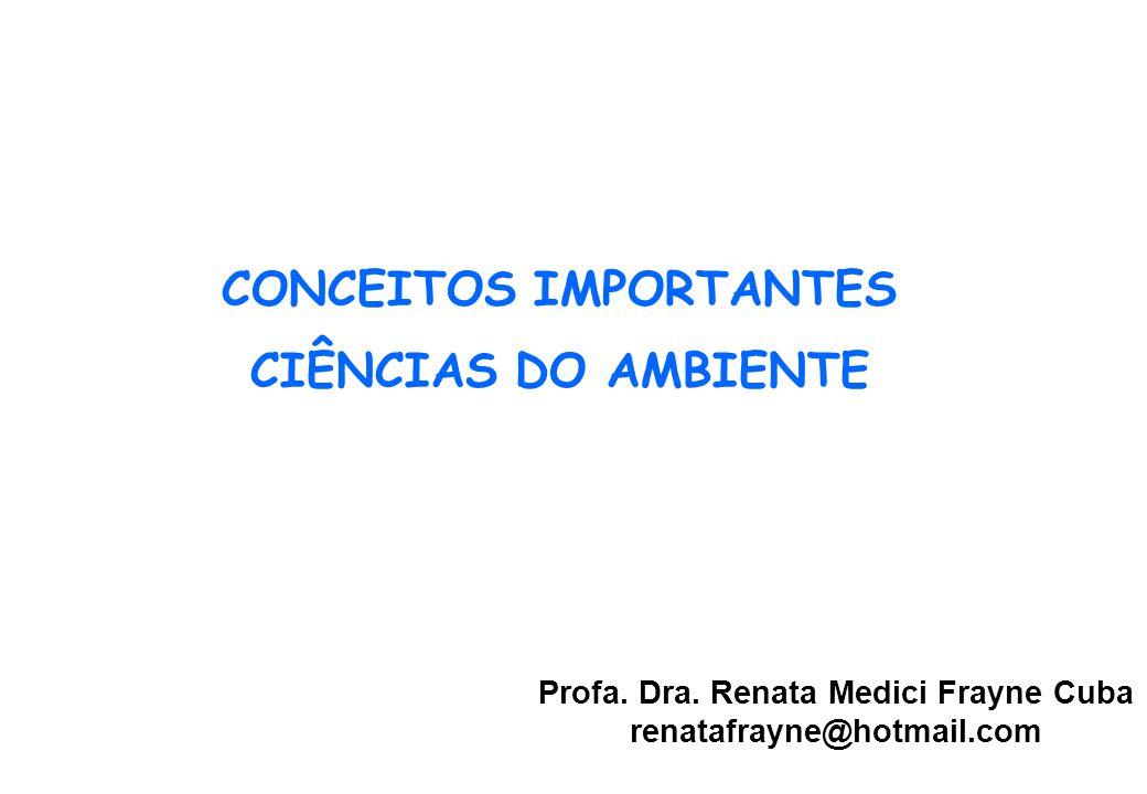 CONCEITOS IMPORTANTES CIÊNCIAS DO AMBIENTE