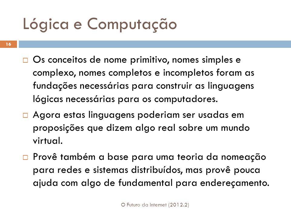 Lógica e Computação