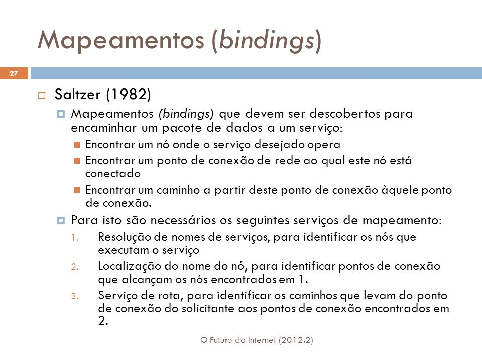 Mapeamentos (bindings)