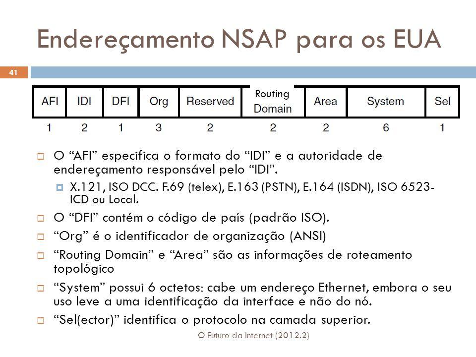 Endereçamento NSAP para os EUA