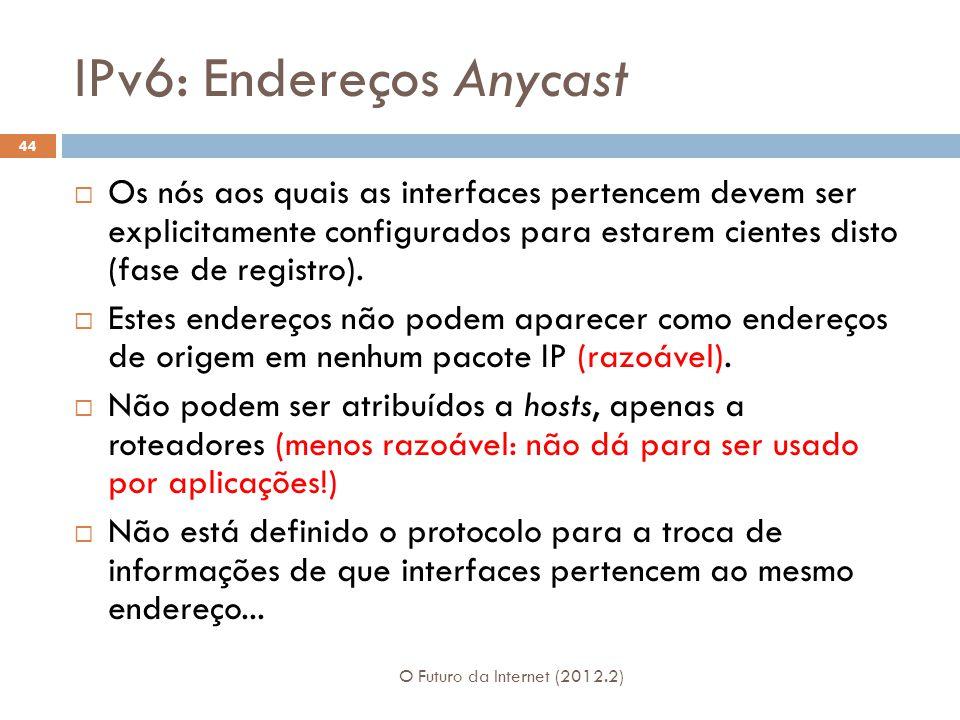 IPv6: Endereços Anycast