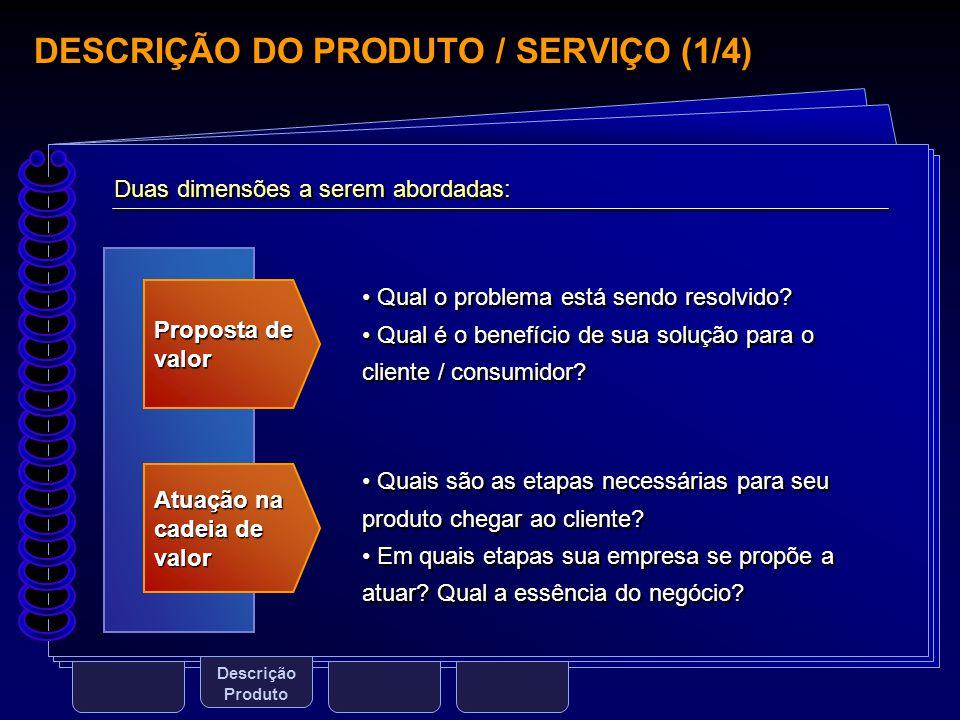 DESCRIÇÃO DO PRODUTO / SERVIÇO (1/4)