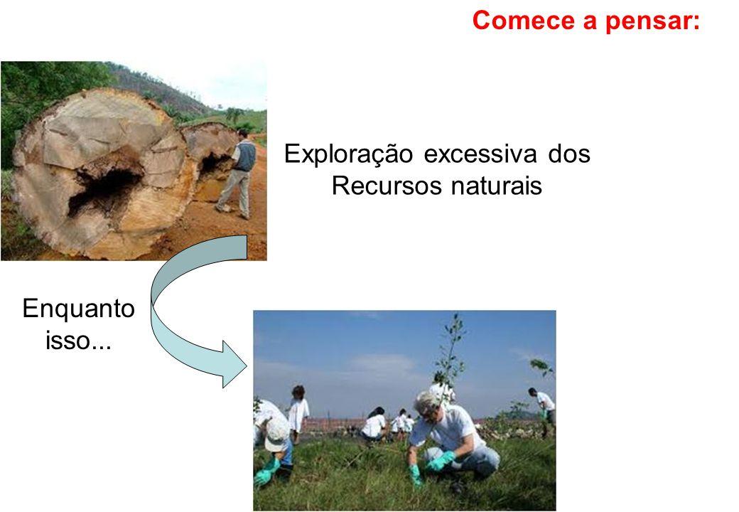 Exploração excessiva dos Recursos naturais