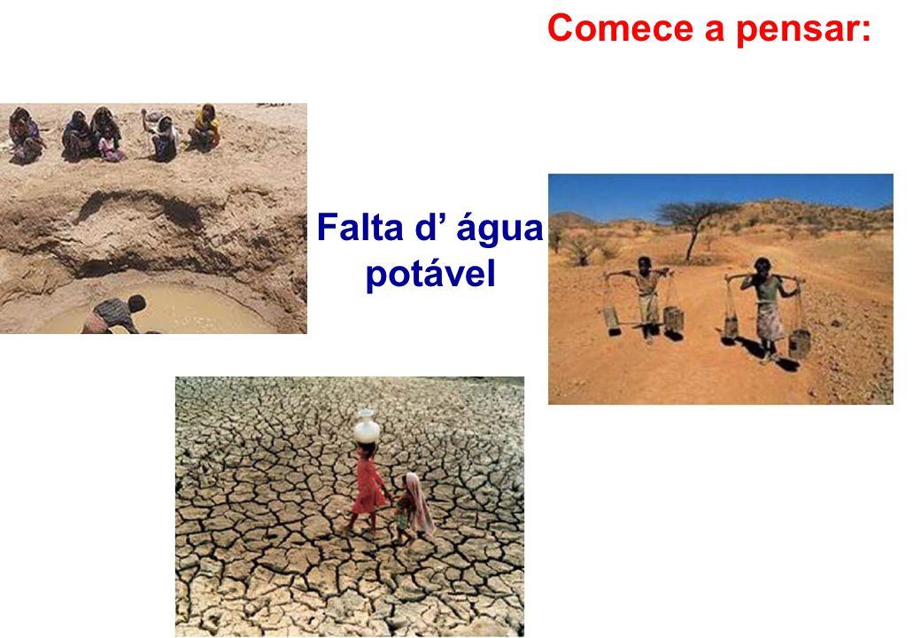 Comece a pensar: Falta d' água potável