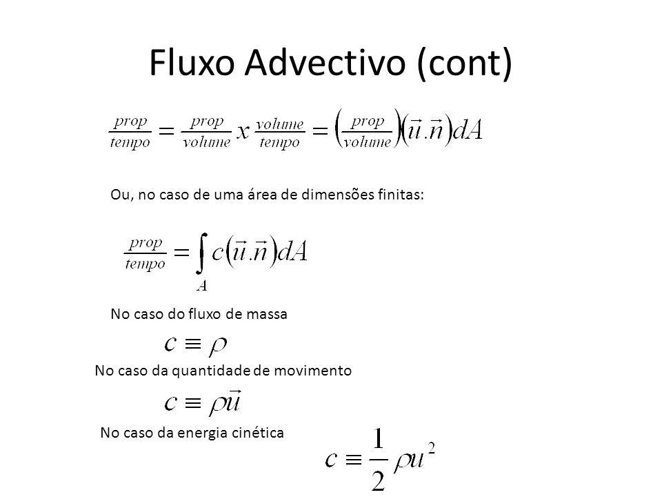 Fluxo Advectivo (cont)