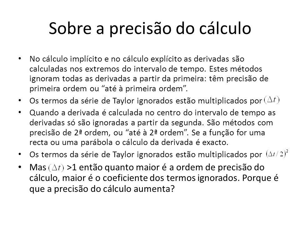 Sobre a precisão do cálculo