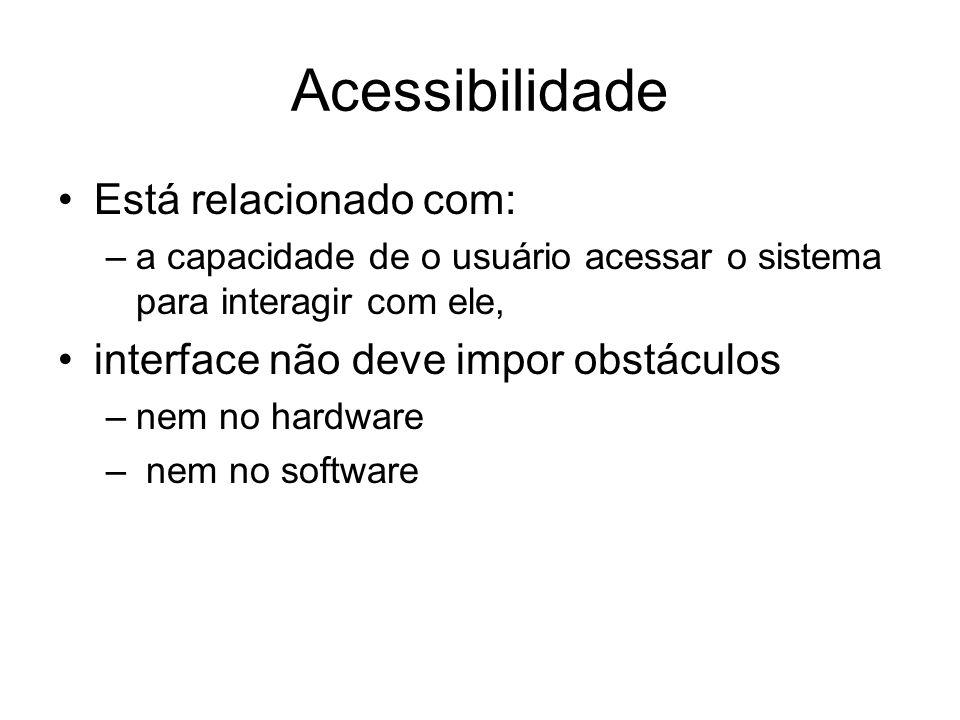 Acessibilidade Está relacionado com: