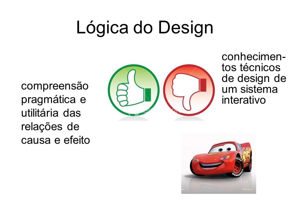 Lógica do Design conhecimen-tos técnicos de design de um sistema interativo.