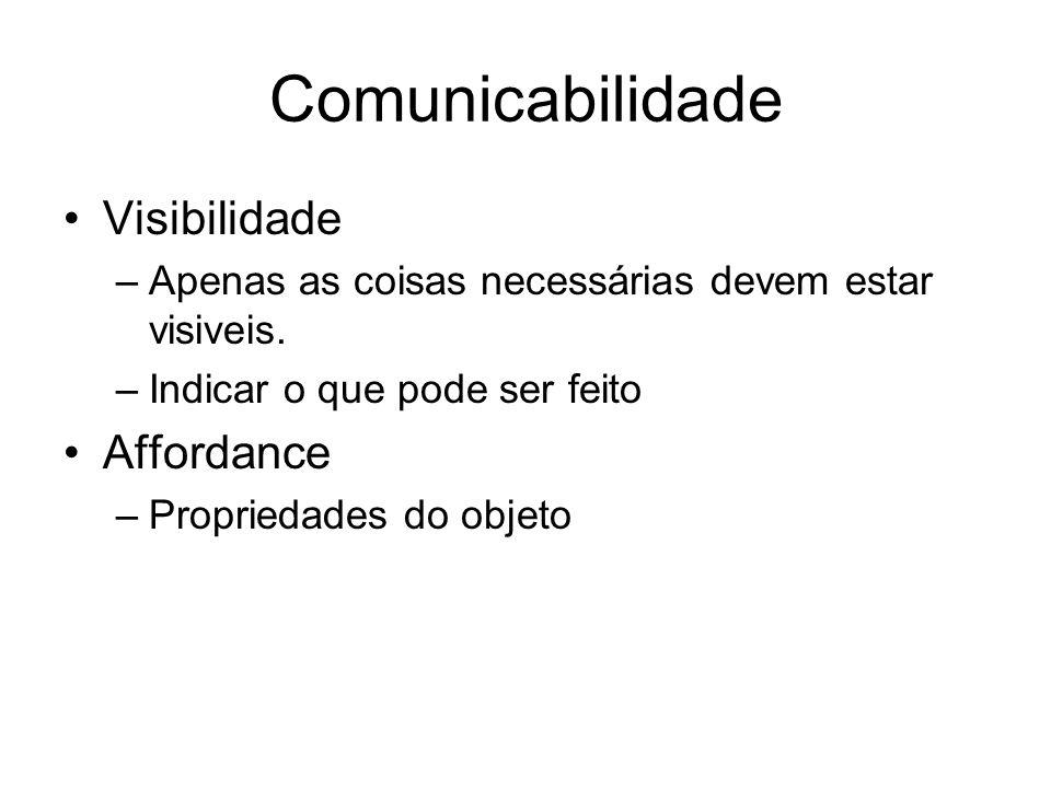 Comunicabilidade Visibilidade Affordance