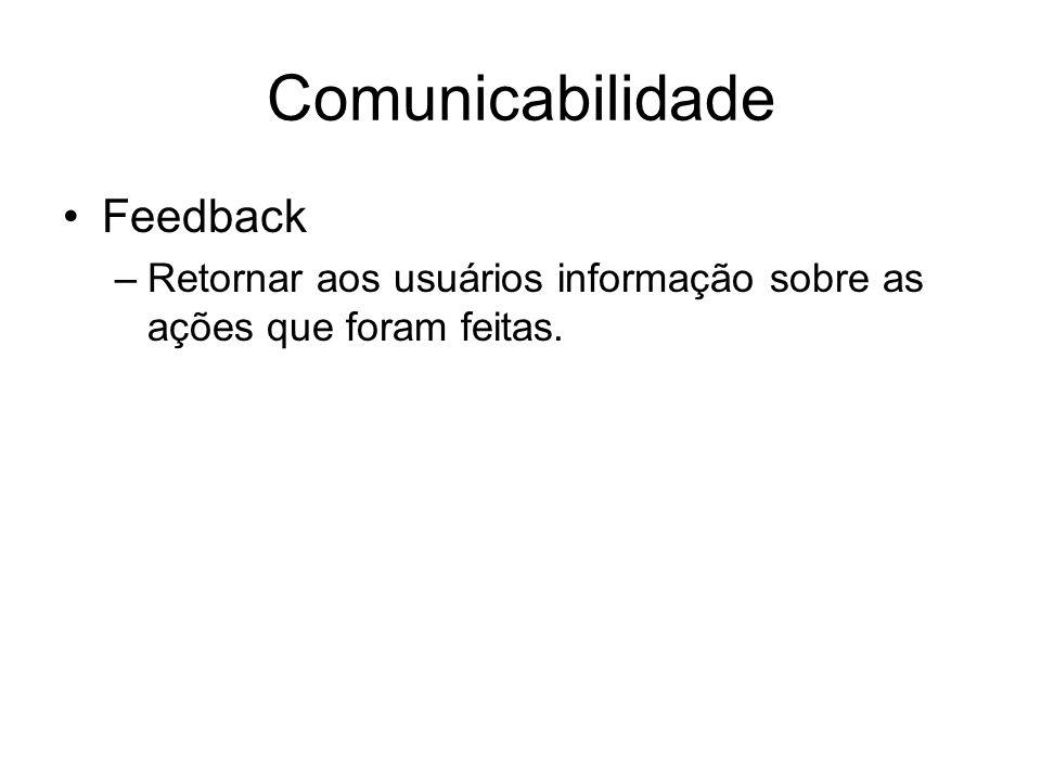 Comunicabilidade Feedback