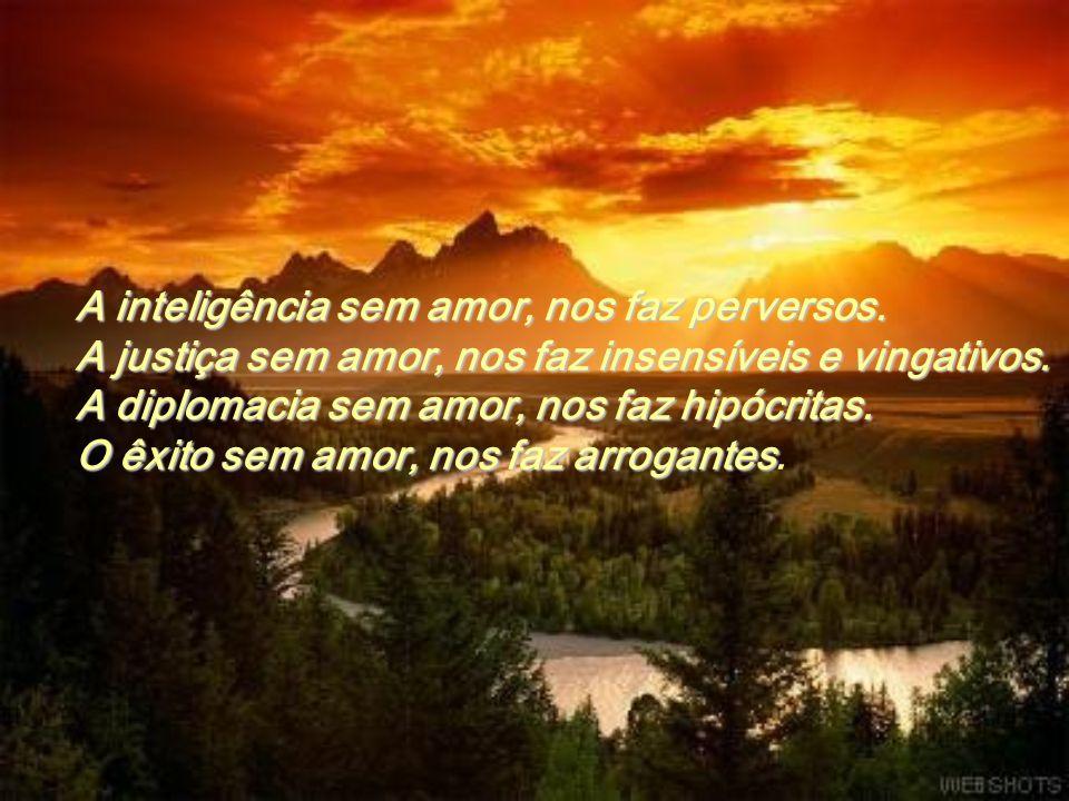 A inteligência sem amor, nos faz perversos.