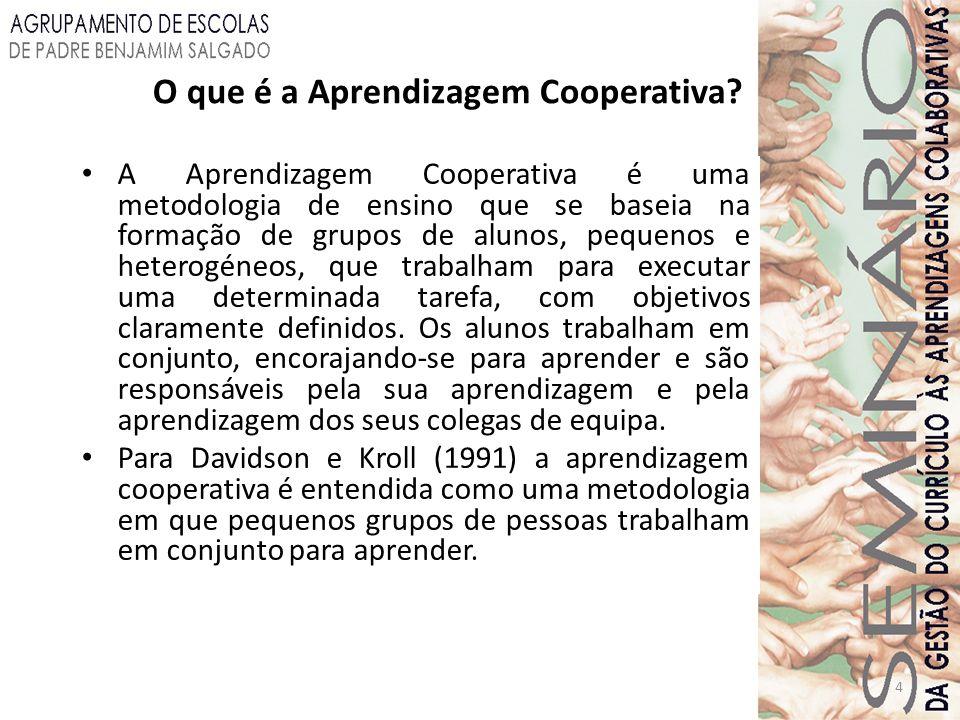 O que é a Aprendizagem Cooperativa
