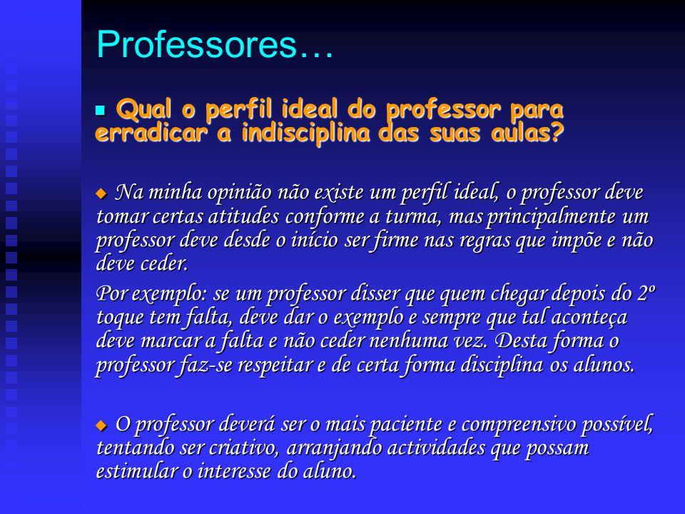 Professores… Qual o perfil ideal do professor para erradicar a indisciplina das suas aulas