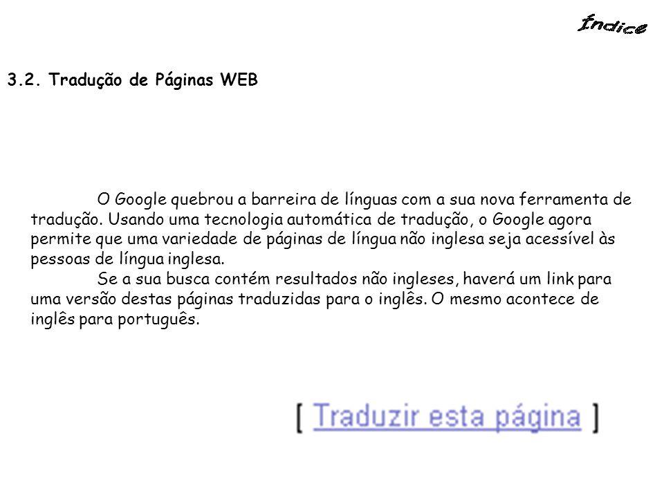 3.2. Tradução de Páginas WEB