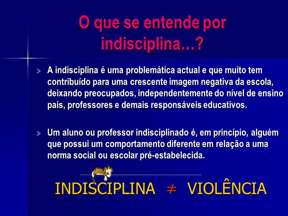 O que se entende por indisciplina…
