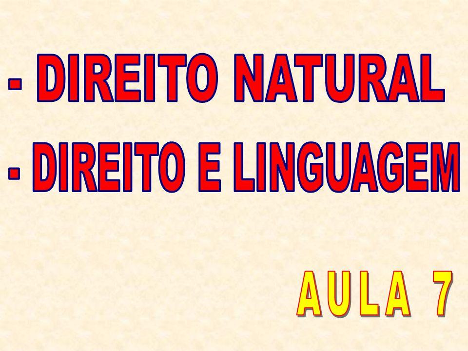 - DIREITO NATURAL - DIREITO E LINGUAGEM AULA 7