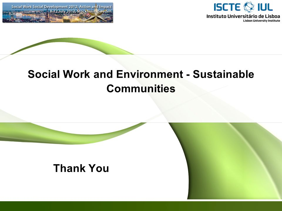Social Work and Environment - Sustainable Communities